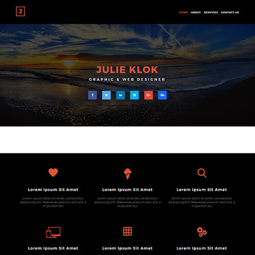 Julie-Klok – Free Graphic Design Portfolio Template Download