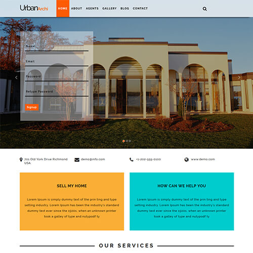 Urbanarchi - Responsive Real Estate HTML Web Design Templates