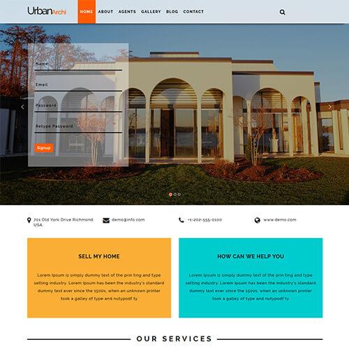 Urbanarchi - Responsive Real Estate HTML Web Design Templates