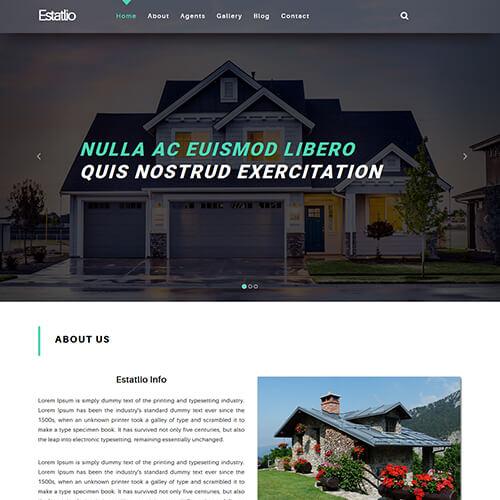 Estatlio - Free Responsive Real Estate Website Template