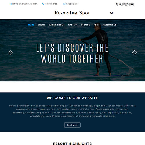 ResortiumSpot- Resort and Hotel Responsive HTML Template