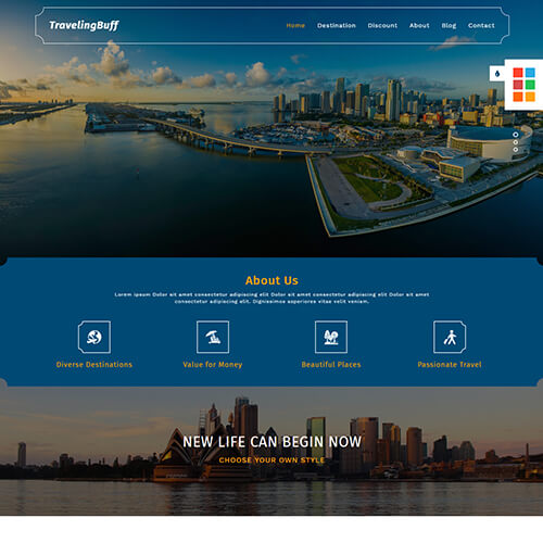 TravelingBuff - Premium HTML Travel Website Template