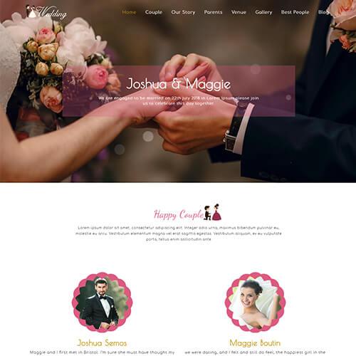 WeWedding - Responsive Elegant Wedding Website Template